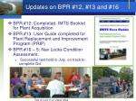 updates on bpr 12 13 and 16