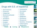 drugs with s e of impotence