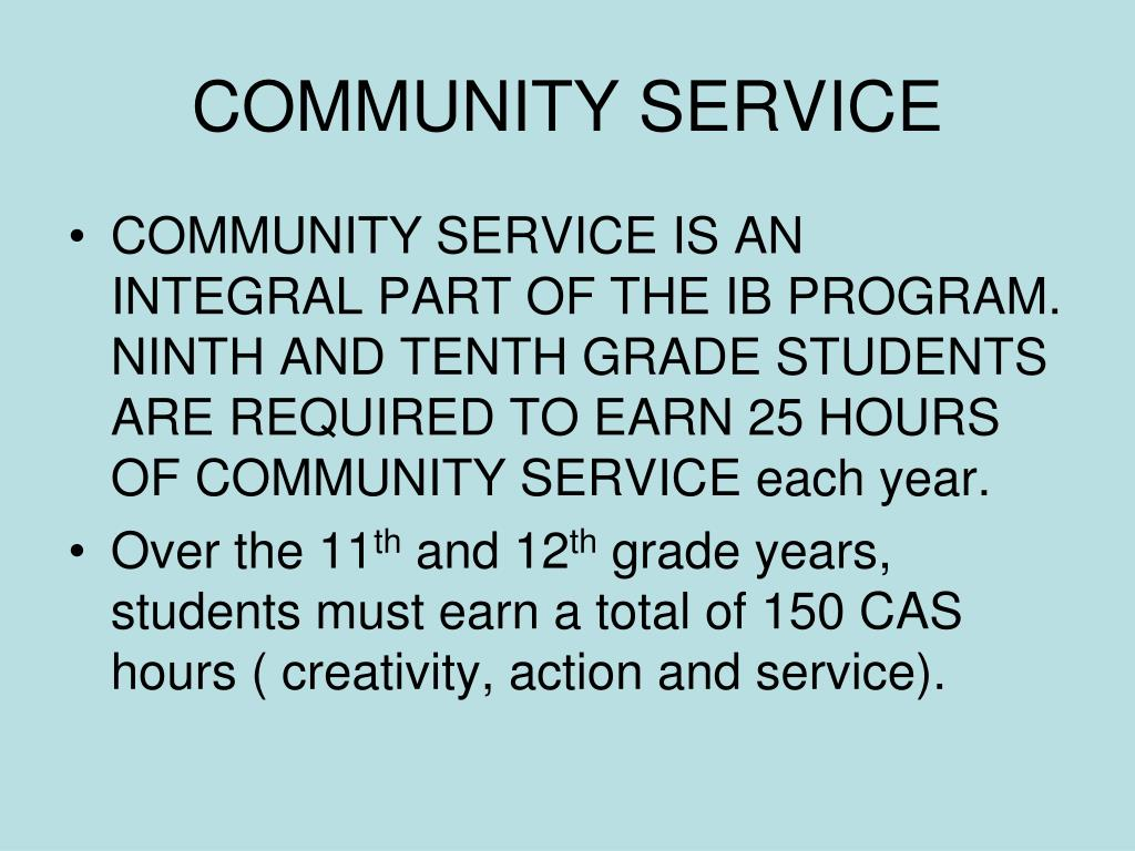 Community service work course