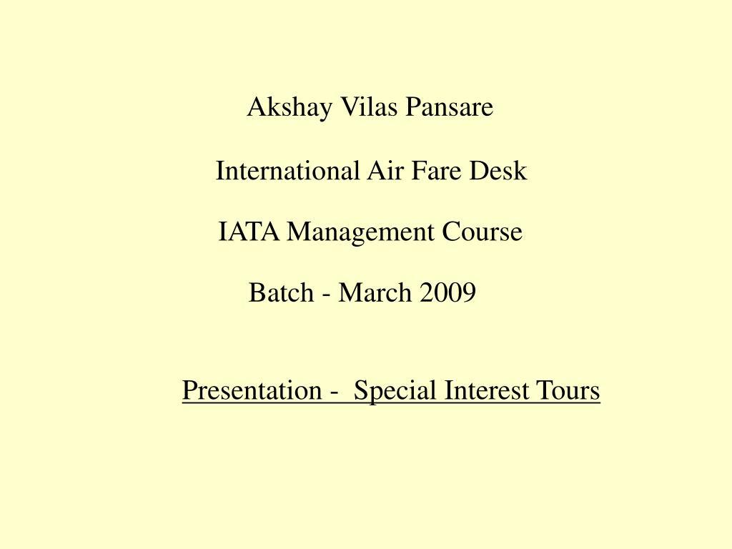Akshay Vilas Pansare
