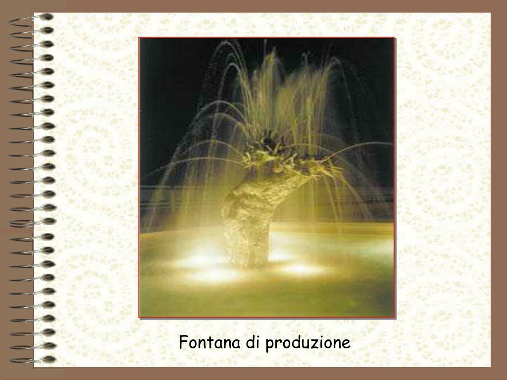 Fontana di produzione