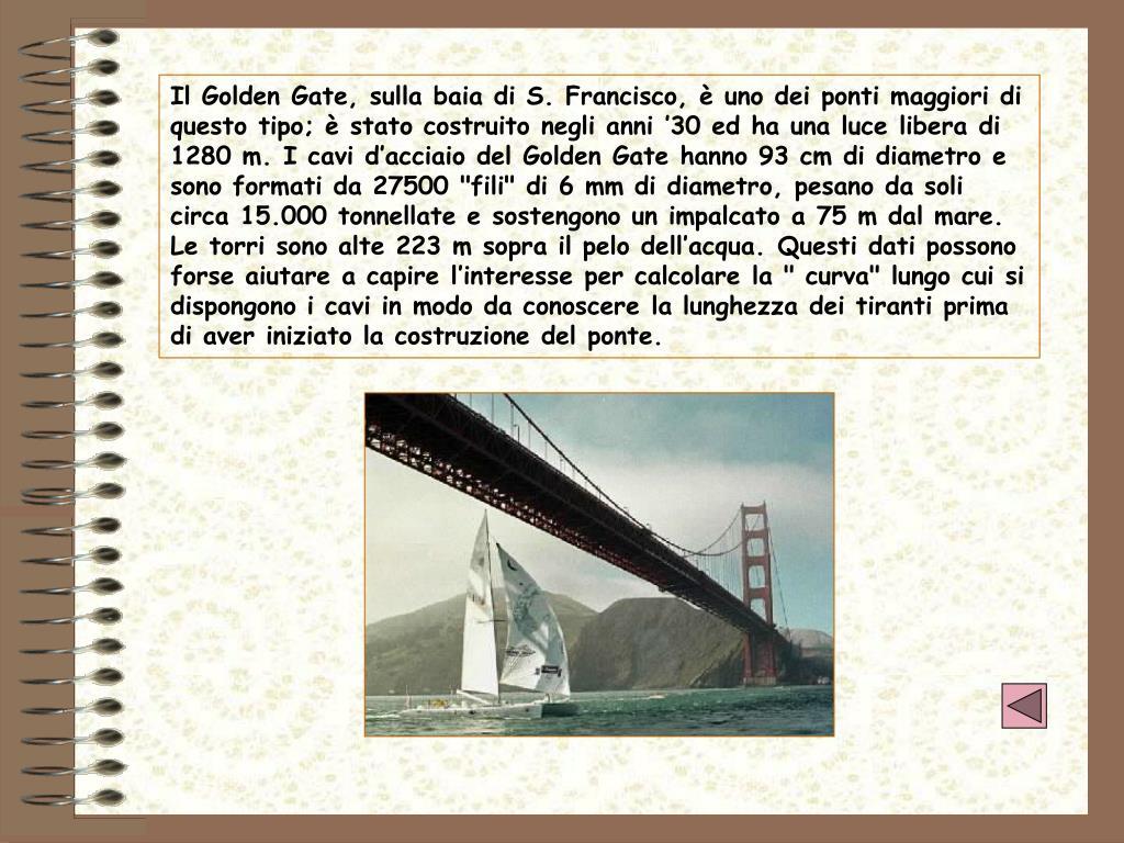 Il Golden Gate, sulla baia di S. Francisco