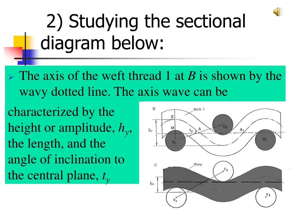2) Studying the sectional diagram below: