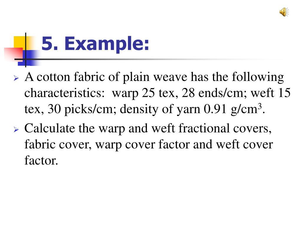 5. Example: