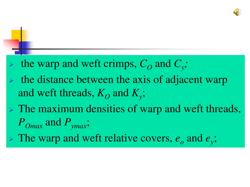 the warp and weft crimps,