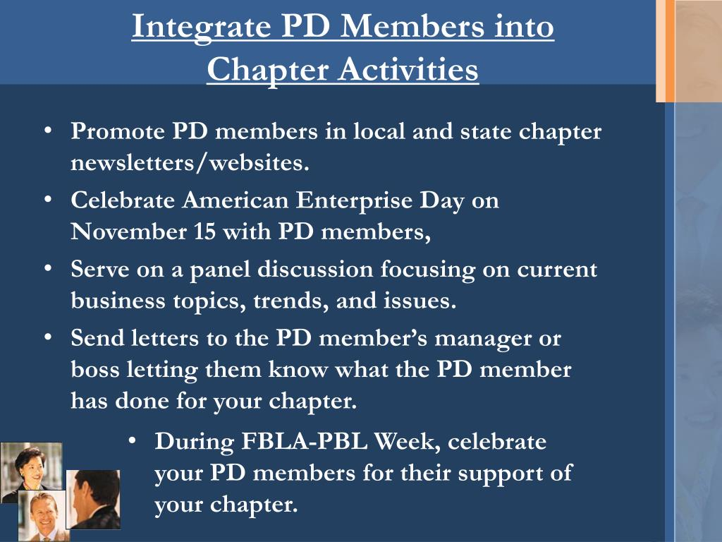 Integrate PD Members into