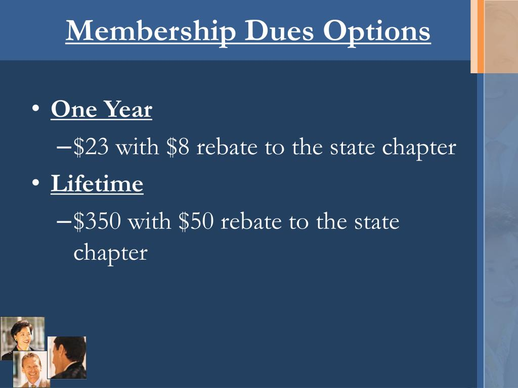 Membership Dues Options