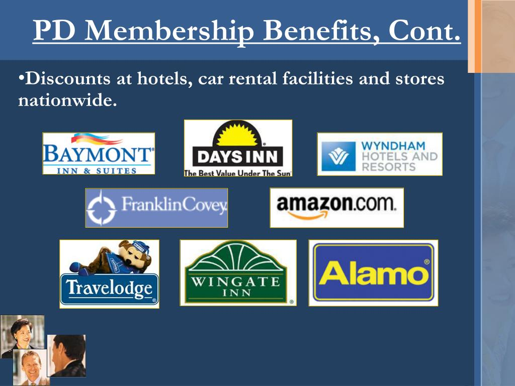 PD Membership Benefits, Cont.