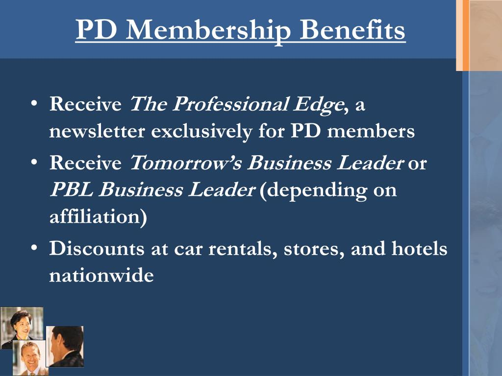 PD Membership Benefits