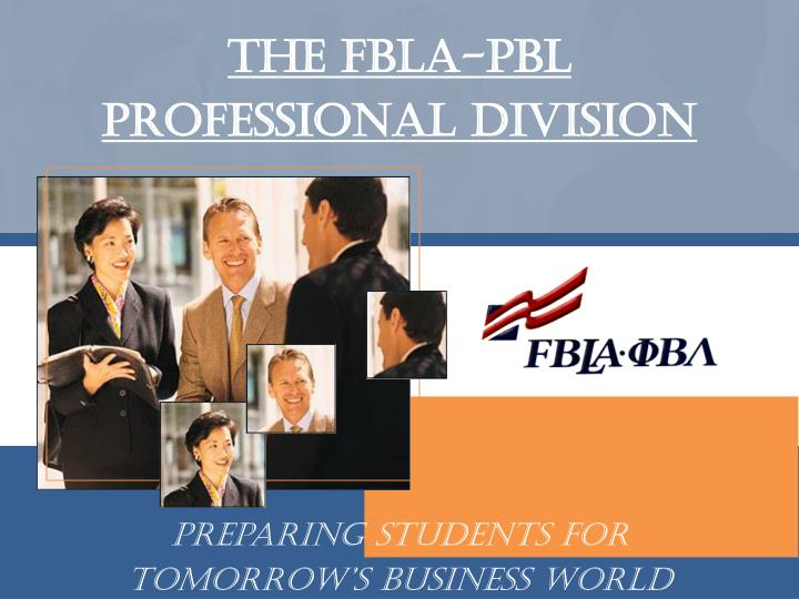 The fbla pbl professional division