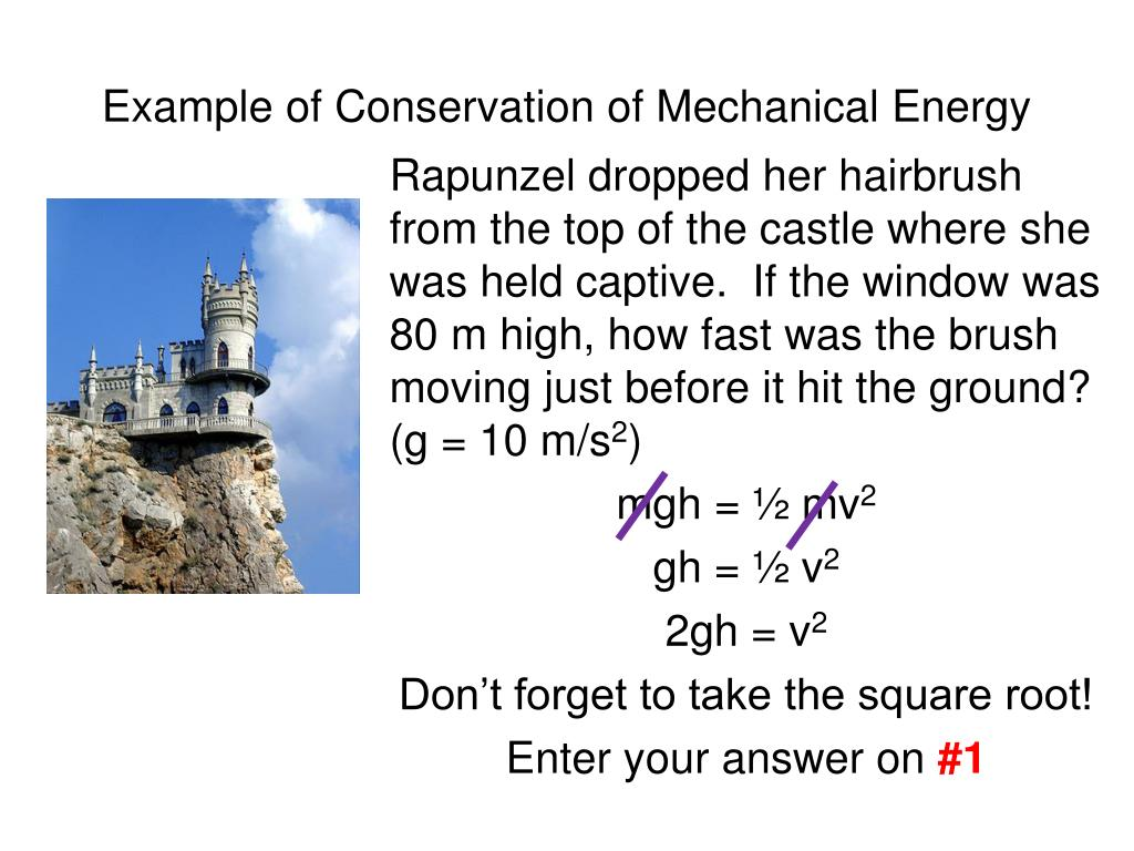 Example of Conservation of Mechanical Energy