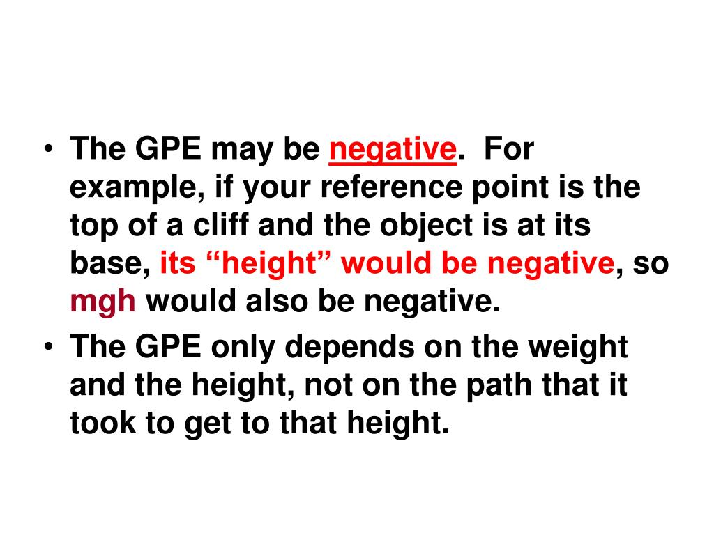 The GPE may be