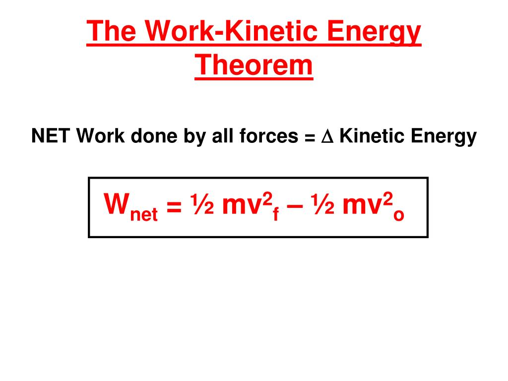 The Work-Kinetic Energy Theorem