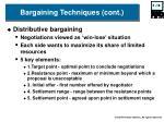 bargaining techniques cont