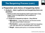 the bargaining process cont7