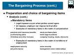 the bargaining process cont8