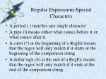 regular expressions special characters