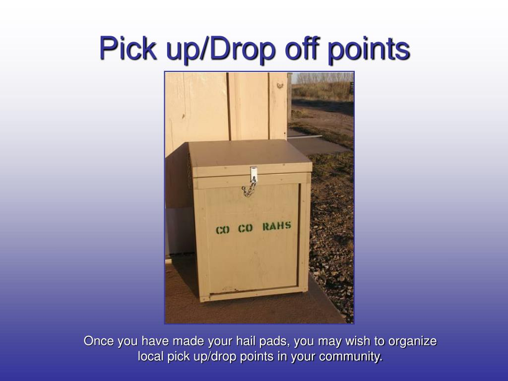 Pick up/Drop off points