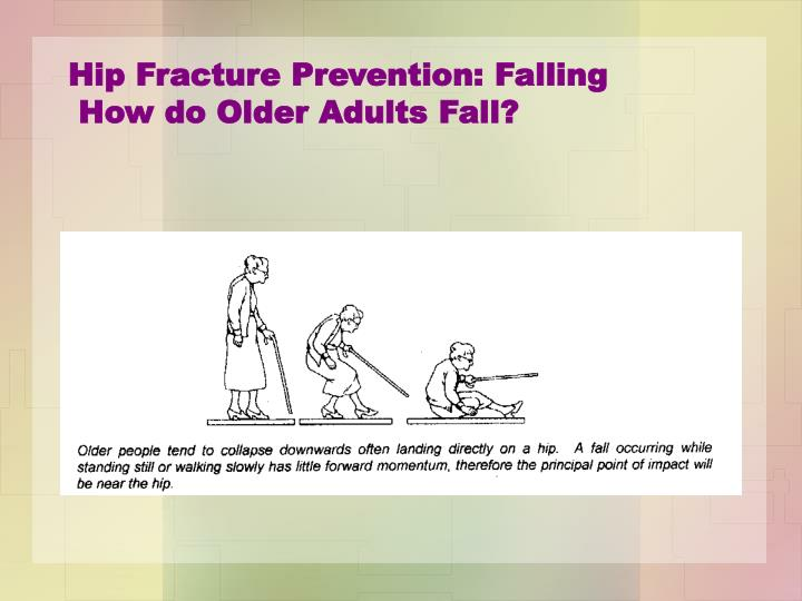 Hip Fracture Prevention: Falling