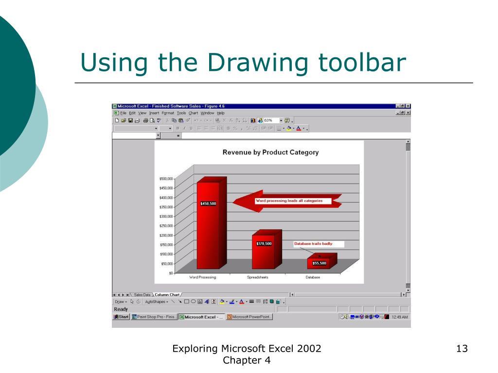 Using the Drawing toolbar