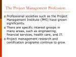 the project management profession
