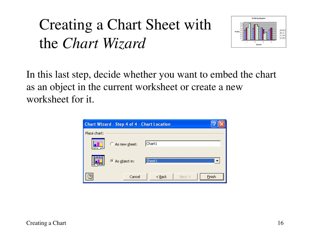 Creating a Chart Sheet with the