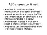 asds issues continued6