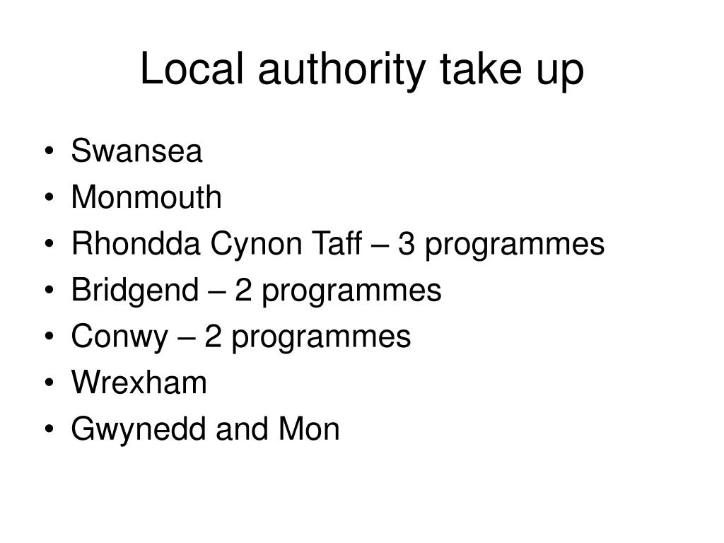 Local authority take up