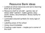 resource bank ideas
