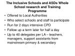 the inclusive schools and asds whole school research and training programme