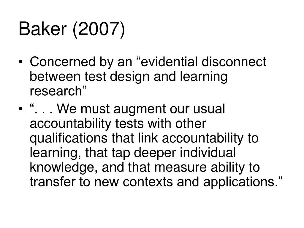 Baker (2007)