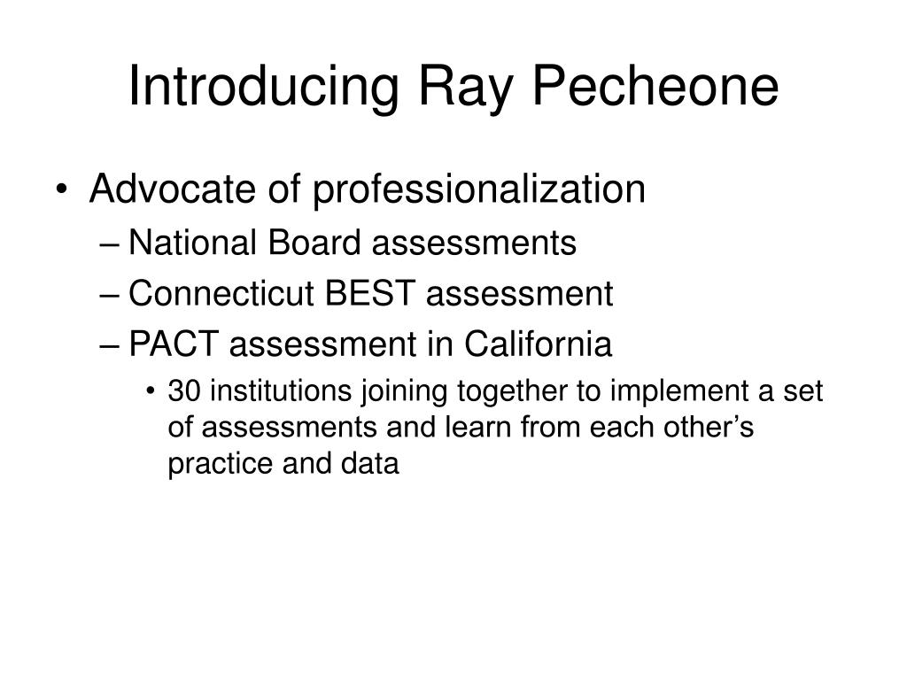 Introducing Ray Pecheone