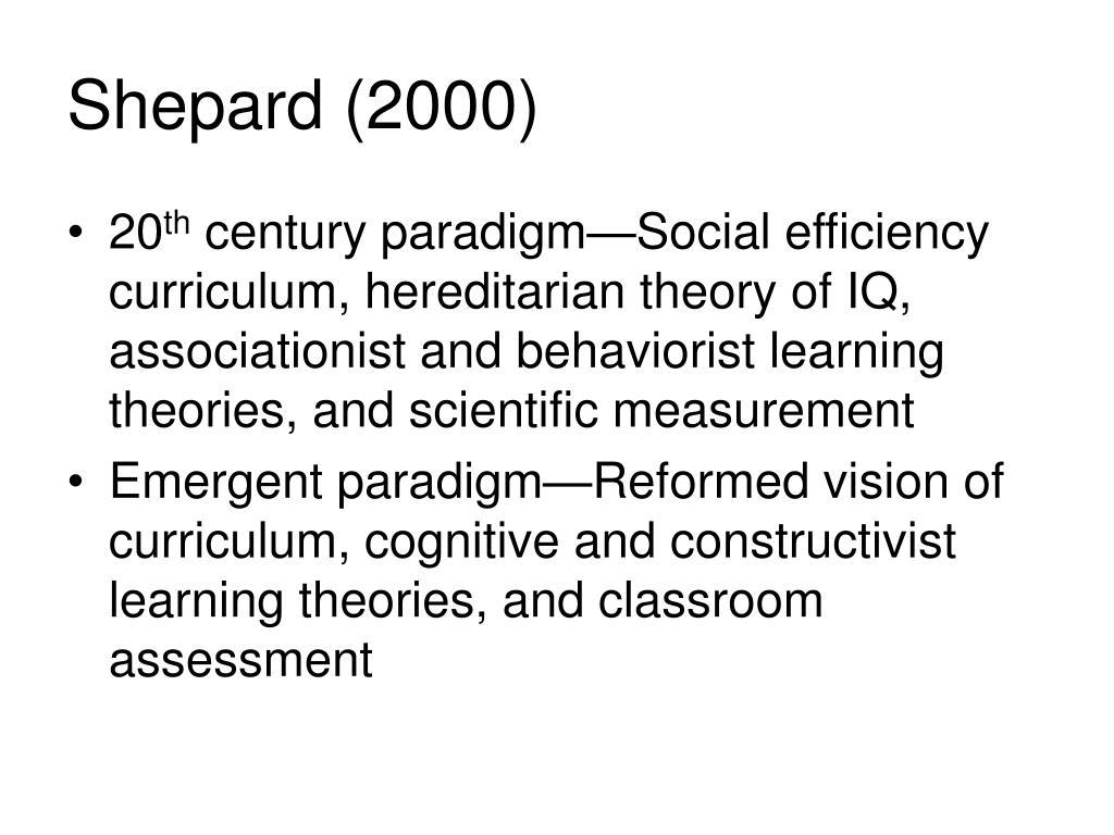 Shepard (2000)