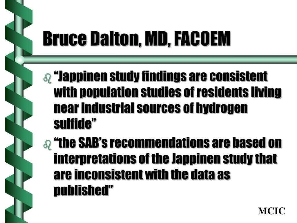 Bruce Dalton, MD, FACOEM