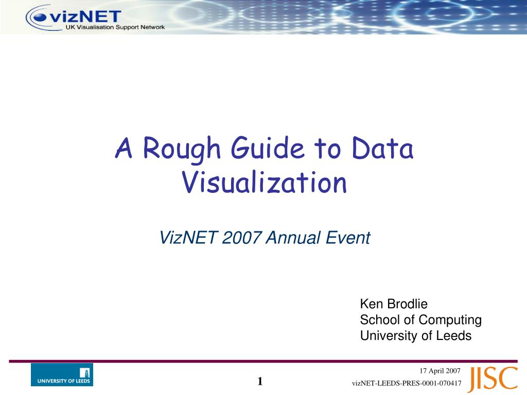 a rough guide to data visualization
