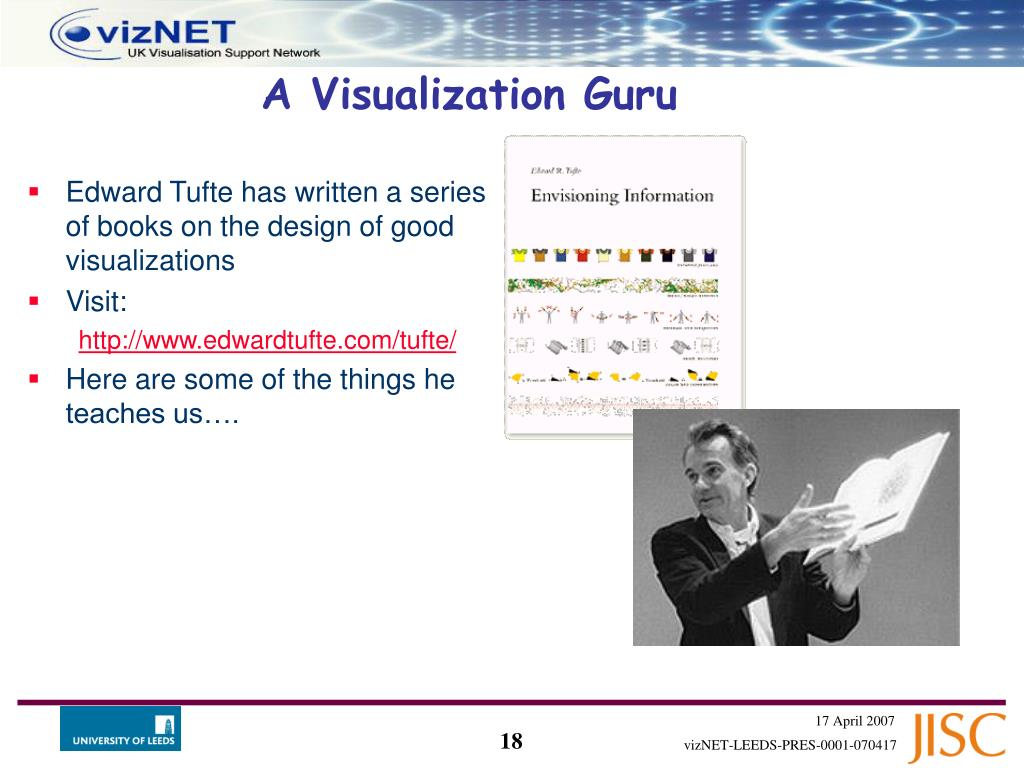 Edward Tufte has written a series of books on the design of good visualizations