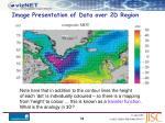 image presentation of data over 2d region