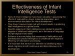 effectiveness of infant intelligence tests