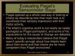 evaluating piaget s sensorimotor stage