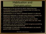 habituation and dishabituation