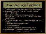 how language develops