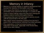 memory in infancy