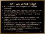 the two word stage