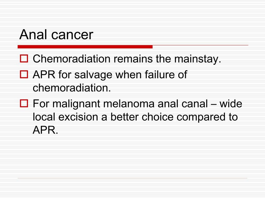Anal cancer