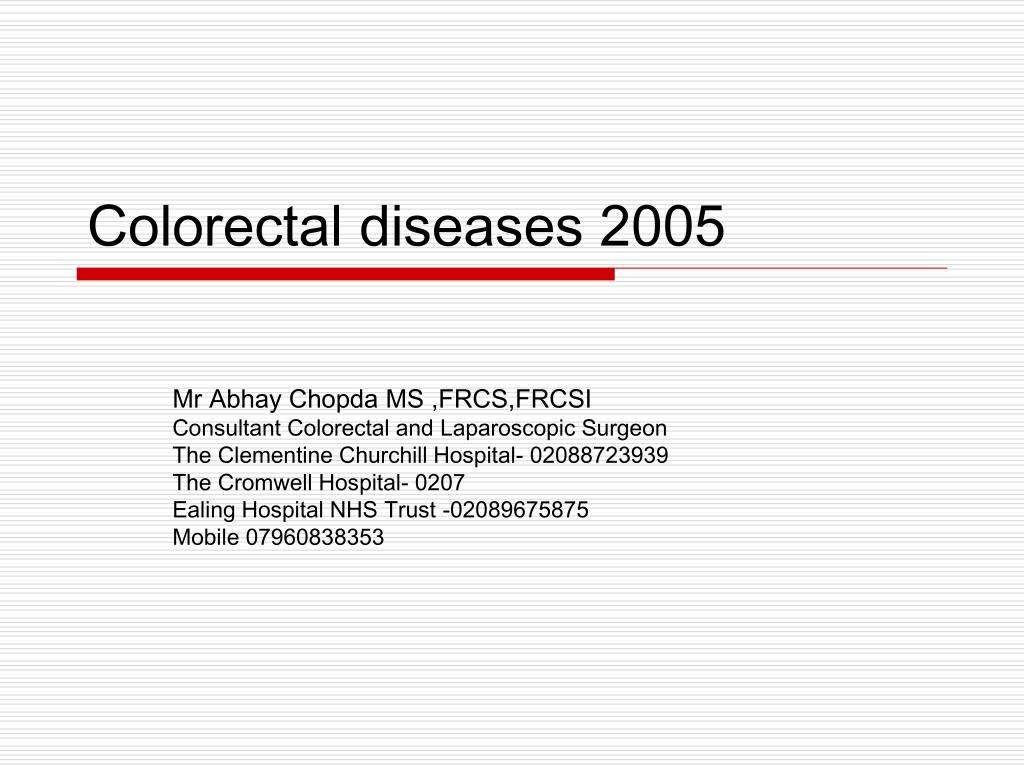colorectal diseases 2005