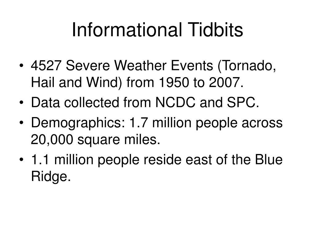 Informational Tidbits