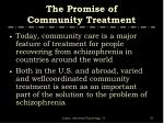 the promise of community treatment1
