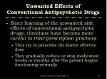 unwanted effects of conventional antipsychotic drugs1