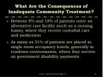what are the consequences of inadequate community treatment1