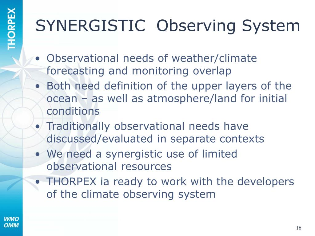 SYNERGISTIC  Observing System
